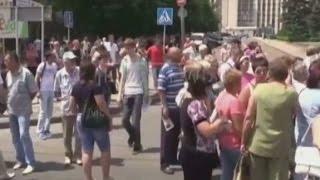 Жители поселка Октябрьский вышли на митинг