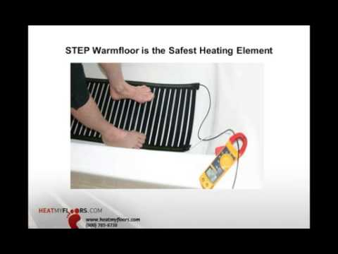 Save energy while providing comfort with electric radiant heat - Webinar from 10-2-13