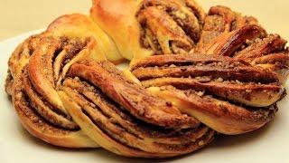 Nutellalı Örgü Çörek Tarifi - Yumuşacık Puf Çikolatalı Tatlı