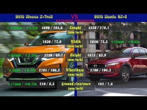 2019 Nissan X-Trail Vs 2019 Mazda CX-5 (technical Comparison)