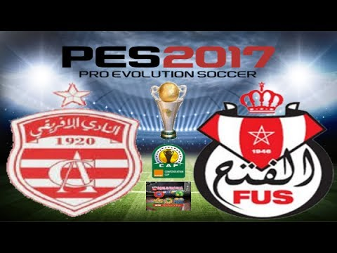 PS4 PES 2017 Gameplay Club Africain vs FUS Rabat HD