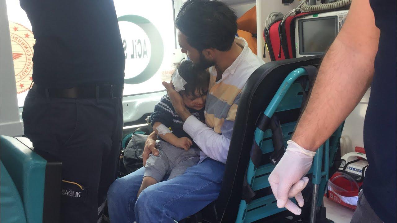Adıyaman'da motosiklet devrildi2'si çocuk 4 kişi yaralandı