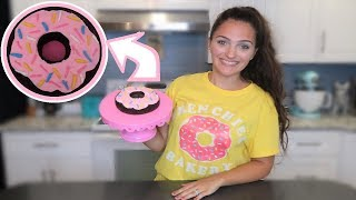 How To Make a DONUT SMASH Cake!!!  Frenchies Bakery