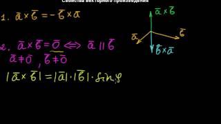 §13 Свойства векторного произведения