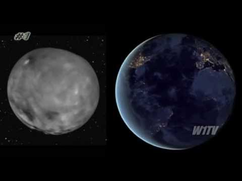 Lights Comparison In Ceres And Earth At Night