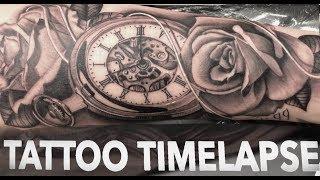 Video TATTOO TIMELAPSE | ROSES AND POCKET WATCH | CHRISSY LEE download MP3, 3GP, MP4, WEBM, AVI, FLV Juli 2018