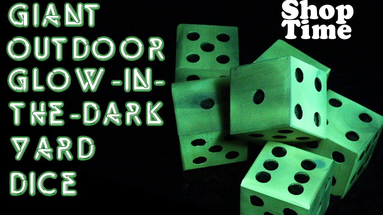 Giant Outdoor Glow In The Dark Yard Dice
