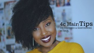 Hair| Tips on growing and maintaining 4c Hair