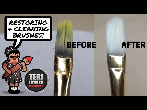 How to Deep Clean & Restore Hobby Paintbrushes - Brush Care & Maintenence