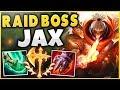 THIS 1V9 JAX BUILD LITERALLY MAKES HIM A RAID BOSS! SEASON 9 JAX TOP GAMEPLAY! - League of Legends