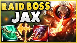 THIS 1V9 JAX BUILD LITERALLY MAKES HIM A RAID BOSS! SEASON 9 JAX TOP GAMEPLAY! - League of Legends