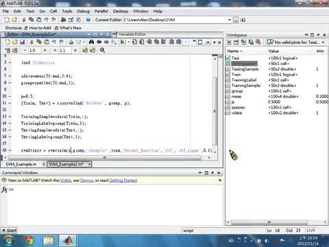 How to Use SVM in MATLAB