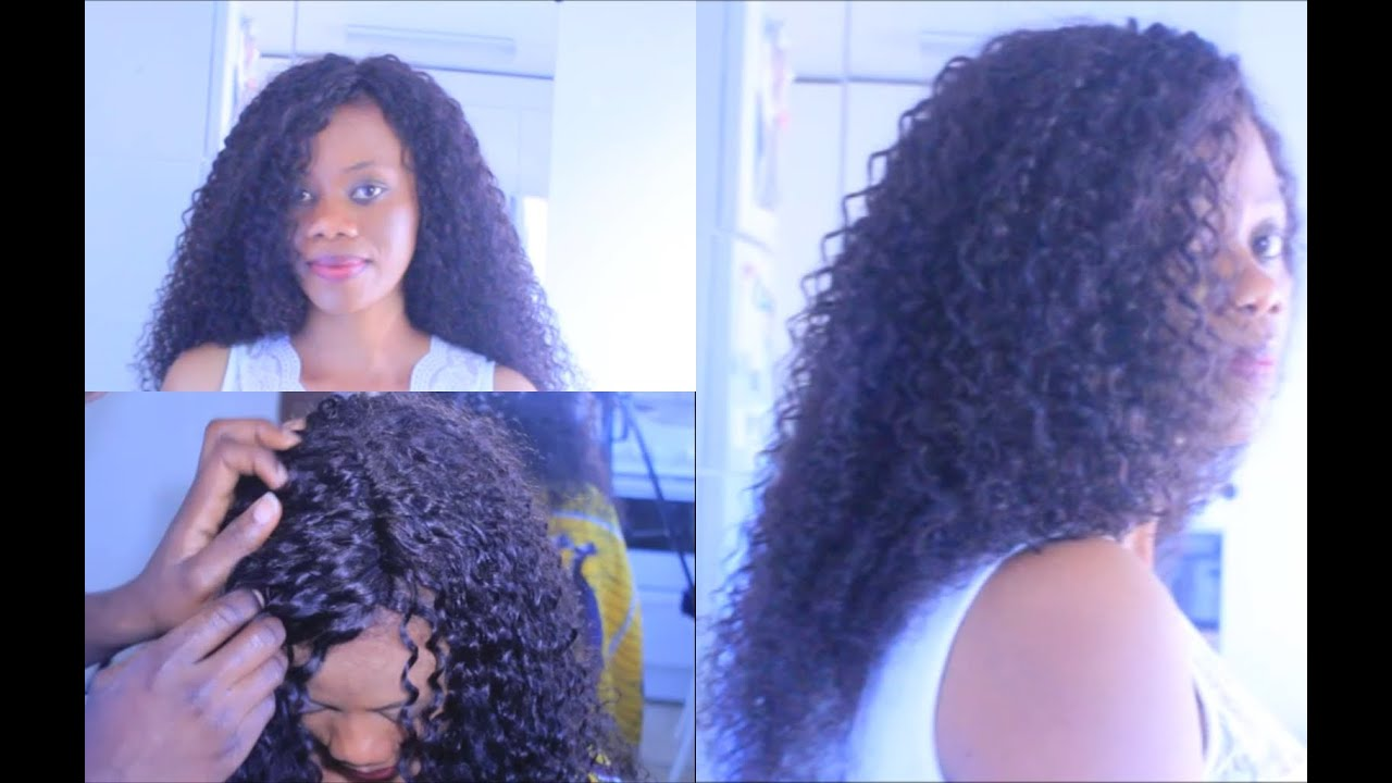 Full Head Sew Curly Hair Extensions Youtube