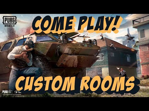 PUBG Mobile CUSTOM ROOMS | Anyone Can Join! | Live