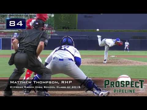 Matthew Thompson Prospect Video, RHP, Cypress Ranch High School Class of 2019