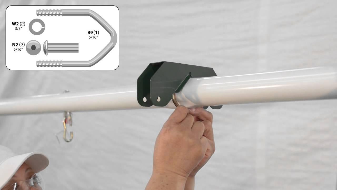 Swing Bearing Bracket For Lawn Swing Air Glider Youtube