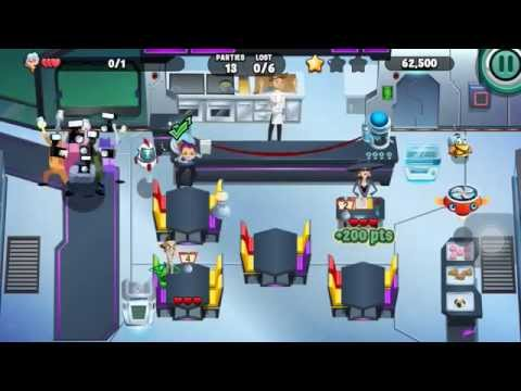 Diner Dash (iOS) - Rocket Diner lv90 (2/3 stars)