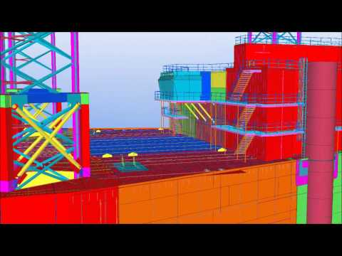 Tekla Middle East BIM Awards 2013 - Jack Up Crane Barge With Accommodation - Gulf Piping Company
