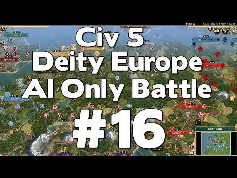 Civ 5 Deity Europe AI Only Battle #16