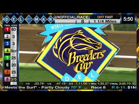 Collected Wins $1 Million TVG Pacific Classic (Grade I) Stakes Race 8 at Del Mar 08/19/17