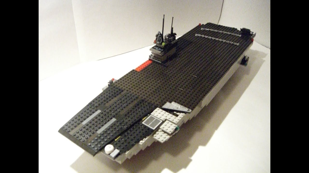 lego aircraft carrier composite youtube