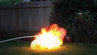 Butane Baloon Bomb - Propane Explosion