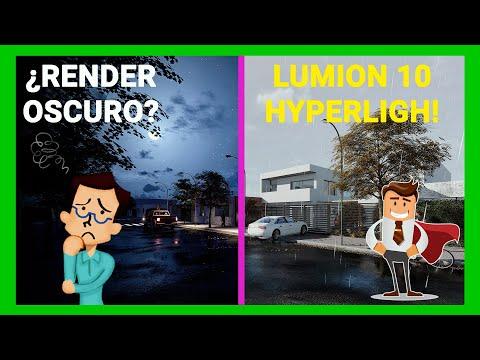 🔴Lumion 10 - ¿RENDER OSCURO? 👤 - Efecto HYPERLIGHT ☀️
