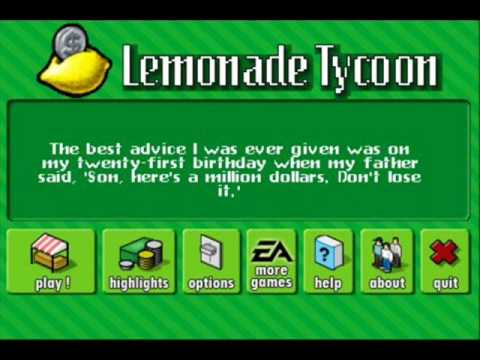 Lemonade Tycoon game on the Iphone !