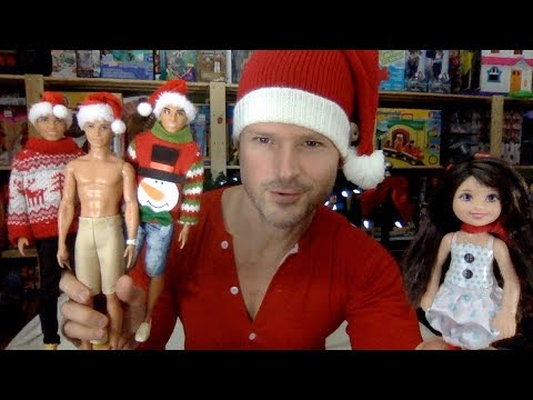 Holiday Chelsea Gives Ken Fashionistas 7, 9 & 13 a Christmas Barbie Makeover Unboxing Review