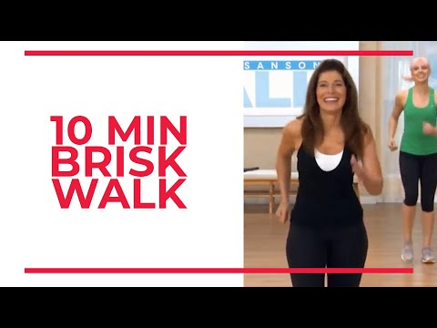 10 Minute BRISK WALK | At Home Workouts