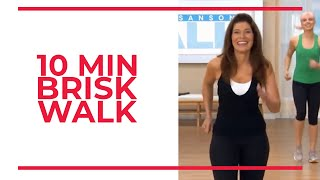 Download 10 Minute BRISK WALK | At Home Workouts
