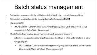 SAP MM toplu iş Yönetimi veri
