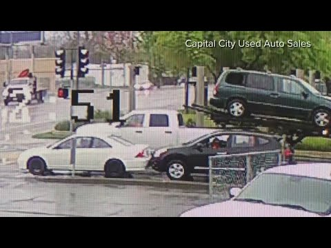 Surveillance cams catch road rage in Sacramento | FULL VIDEO