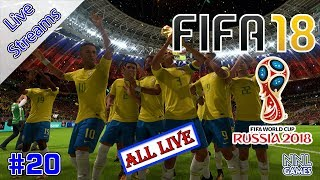 Sendo o melhor do mundo - FIFA 18 (World Cup 2018 Russia DLC) | Live Streams #20