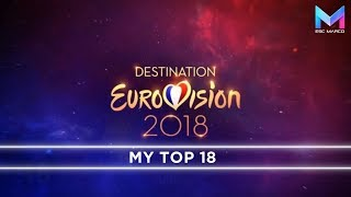 Download Destination Eurovision 2018 - MY TOP 18 | France Eurovision 2018 MP3 song and Music Video