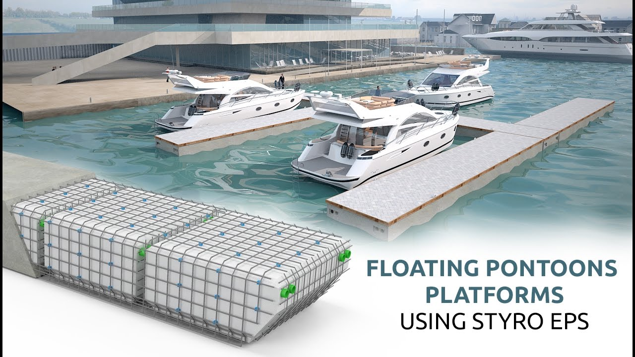 Styrofoam Lightweight Floating Pontoons Styro Youtube