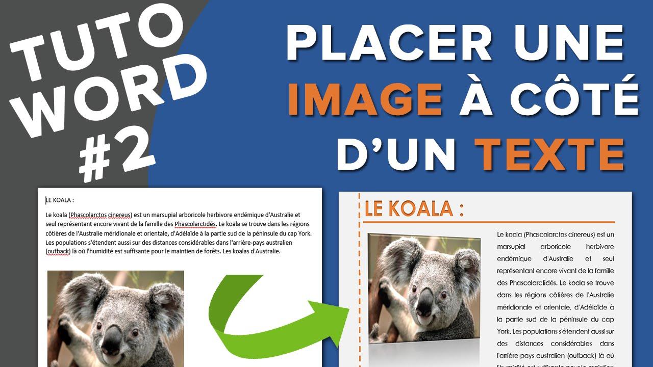 tuto word  2 - mettre une image  u00e0 c u00f4t u00e9 d u0026 39 un texte