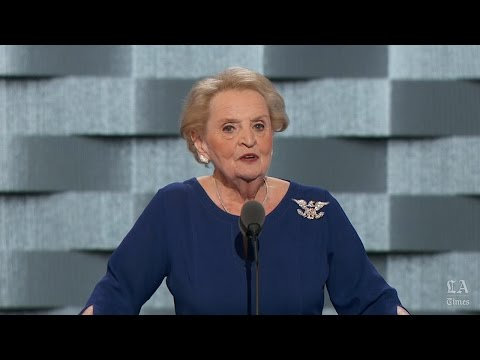 Madeleine Albright, former secretary of State, speaks at the Democratic National Convention