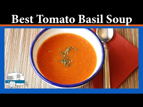 Creamy tomato basil soup using canned tomatoes