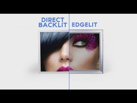 Direct Backlit vs. Edgelit Lightboxes