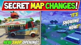 "*NEW* FORTNITE SECRET MAP CHANGE! + ""FROSTNITE"" - SNOWING NOW! Season 7 MAP CHANGES LEAKED!"