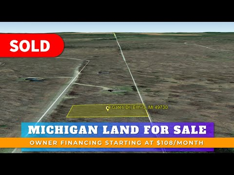 0.44 Acre Residential Vacant Land For Sale Lot 300 Gates Dr Elmira, MI Antrim County