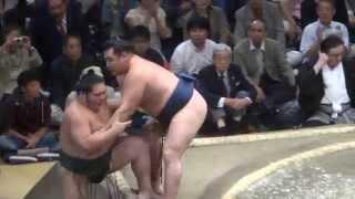 20140920 大相撲秋場所7日目 鶴竜vs千代大龍.