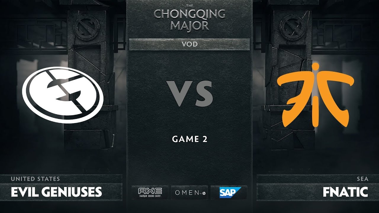 [RU] Evil Geniuses vs Fnatic, Game 2, The Chongqing Major Group D