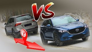 Mazda CX-5 VS Volkswagen Tiguan - Tug of War