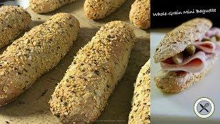 Whole-Grain French Mini Baguette  Bruno Albouze