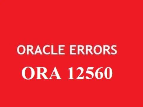 #4- ERROR:ORA-12560: TNS:protocol adapter error