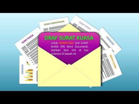 Download Draf Surat Kuasa