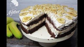 Bananen und Kuchen passen hervorragen zusammen - Wer es nicht glaubt probiert diese leckere Torte
