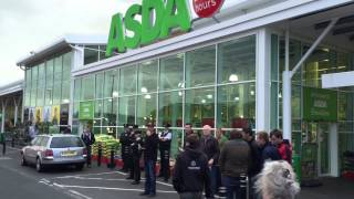 Farmers protest at Asda Enniskillen